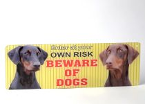 Kennel Sign Plate 'Beware of Dogs' - Size 4