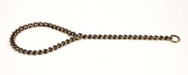 Kennel Brass Choke Chain  Extra Thick (L = 24