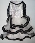 Zorba Party Cat Frock Black & White (Size - 12
