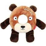 Gigwi Plush Friendz Foam Rubber Ring Bear - Dog Toy