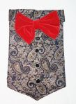 Canes Venatici Dog Long Red Bow Tie Large