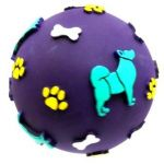 Super Vinyl Treat Ball With Cover Toy