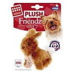 Gigwi Plush Friendz Rabbit Double Layer Brown Dog Toy