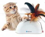 Gigwi Feather Hider Pet Droid Natural Feather Sound Module & Motion Sensor
