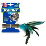 Gigwi Johnny Stick With Natural Feather & Catnip Toy