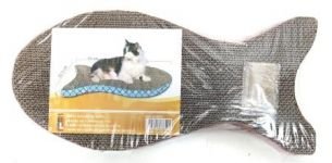 Smarty Pet Fish Shape Cat Scratcher Board